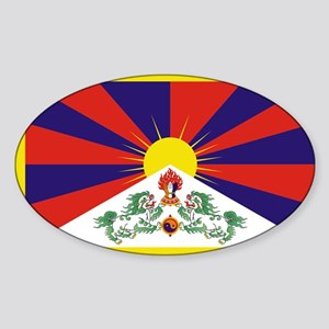 Tibet Flag Sticker (Oval)